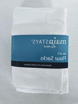 Mainstays Home Flour Sack White Kitchen Towels Supplies Tabl