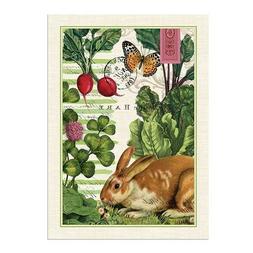 Michel Design Works Garden Bunny Cotton Kitchen Towel, Multi