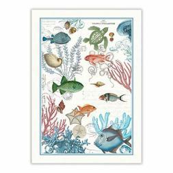 Michel Design Works Sea Life Cotton Kitchen Towel, Multicolo