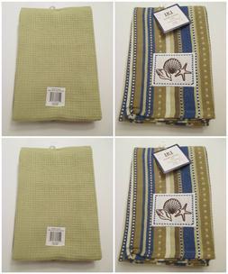 NWT DII Seashell Ocean Beach Kitchen Hand Towel~Striped Shel