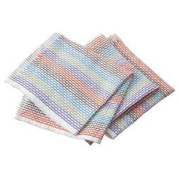 New FULL CIRCLE Organic Cotton Dish Cloths 3 Pack Multi-Colo