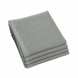 Now Designs Ripple Dishcloth, London Grey, Set of 4