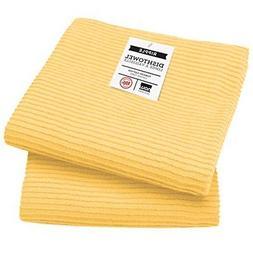 Now Designs Ripple Kitchen Towel, Set of 2, Lemon Yellow FRE