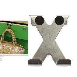 Over Door Hook Stainless Kitchen Cabinet Clothes Hanger Orga