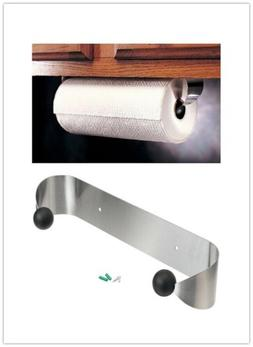 Paper Towel Holder Under Cabinet Wall Mount Stainless Steel