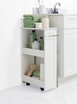 Rolling Storage Shelf Unit Kitchen Bathroom Shampoo Towels S
