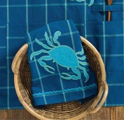 Salt Water Blue Crab Applique 28 Inch Kitchen Dish Towel
