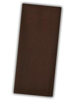 Set of 2 Dark Chocolate Brown Waffle Weave 100% Cotton Kitch