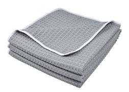 Sinland Microfiber Waffle Weave Kitchen Towels Dish Cloth 3
