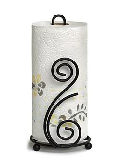 Spectrum Diversified Scroll DECO Paper Towel Holder, black