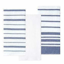 Sticky Toffee Cotton Waffle Weave Kitchen Dish Towels, Gray,