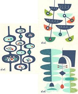 Swedish Dishcloths, Jenn Ski's Mid-Century Modern Designs -