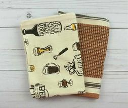 TAG Kitchen Towel Dishcloth All Cotton Striped Wine Natural