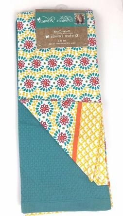 The Pioneer Woman Daisy Chain Kitchen Dish Tea Towel Set, 2-