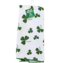 Three  Saint Patrick's Day Bar/Kitchen/Bath Shamrock Towels