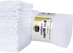 Utopia Towels Kitchen Bar Mop 12 Pack  Pure Cotton White Kit