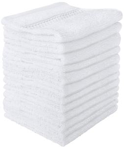 Utopia Towels Luxury Cotton 600 GSM Washcloths - 12 Pack, Wh