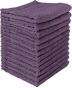 Utopia Towels Luxury Cotton 600 GSM Washcloths - 12 Pack, Pl