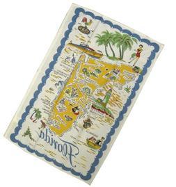 Vintage Reproduction Florida State Souvenir Towel