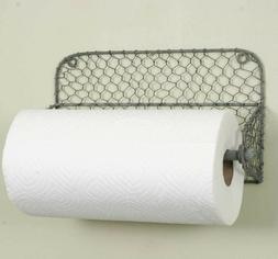 Wall Mount Chicken Wire Paper Towel Holder
