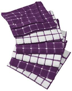 "6 Pc 12"" DII Absorbent Cotton Square Dish Cloth Set Home Kit"