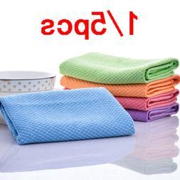Absorbent Microfibre Quick Dry Towel Kitchen Tea Towels Dish