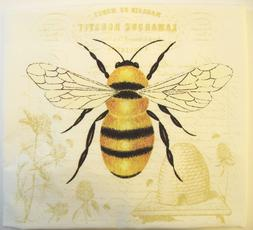 Alice's Cottage Cotton Flour Sack Kitchen Tea Towel Bee - NE