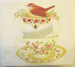 Alice's Cottage Cotton Flour Sack Kitchen Tea Towel Stack of