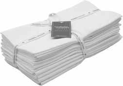 AMOUR INFINI Flour Sack Towels White  6 Pack   28 x 28 Inch