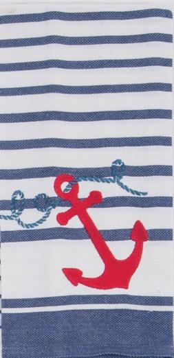 Kay Dee Designs Anchor Tea Towel One Size Blue