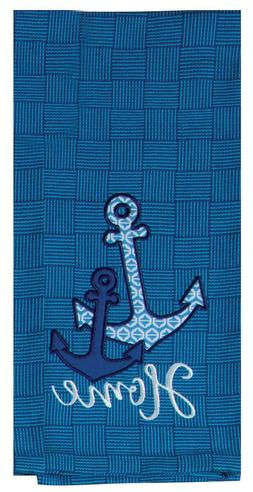 Kay Dee Designs Anchors Tea Towel One Size Blue