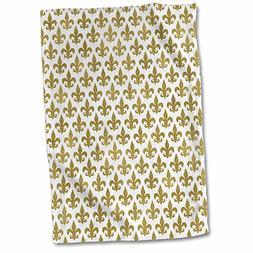 3dRose Anne Marie Baugh - Patterns - Glam Gold Fleur De Lis