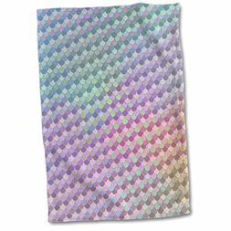3dRose Anne Marie Baugh - Patterns - Blue, Pink, Green, Purp