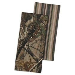 Realtree AP Set of 2 Kitchen Towels Camo Camouflage Stripe