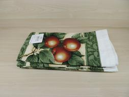 "APPLE PRINT 100% COTTON KITCHEN TOWELS, 15"" x 25"" NEW"