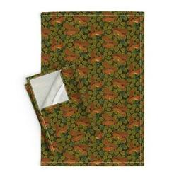 Arts And Crafts Art Nouveau Linen Cotton Tea Towels by Roost