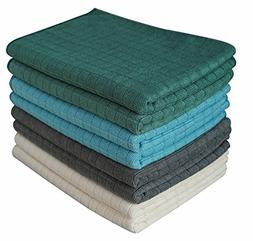 Gryeer Assorted Color Microfiber Dish Towels - 8 Pack  - Sof