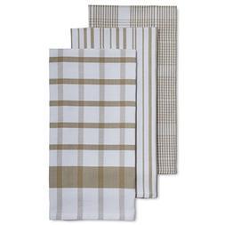 "Sur La Table Assorted Twill Kitchen Towels, 28"" x 20"", Set o"