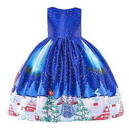 Willsa Baby Girls Dress, Toddler Girls Lace Patchwork Santa