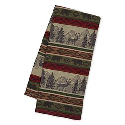 Back Country Jacquard Woven Cotton Kitchen Towel Rustic Cab