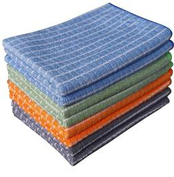 Gryeer Bamboo And Microfiber Kitchen Towels - 8 Pack (2 Cool