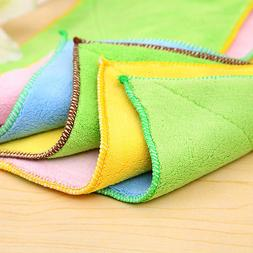Bamboo Fiber Dish Towel Kitchen Towels Dishcloth Wash Rag Di