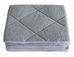 Gryeer Bamboo & Microfiber Dish Cloths with Sponge Pad, Soft