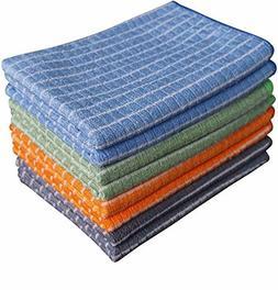 Gryeer Bamboo Microfiber Kitchen Towels Gray Blue Green Oran
