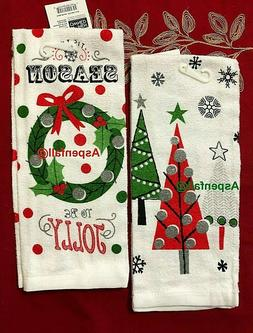 Clearance Sale! Holiday 2 Kitchen Dish Towels Season To Be J