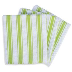 Mahogany Basket Weave Kitchen Towels with Color Stripes, Lim