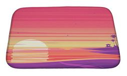 Gear New Bath Mat For Bathroom, Memory Foam Non Slip, Sunset