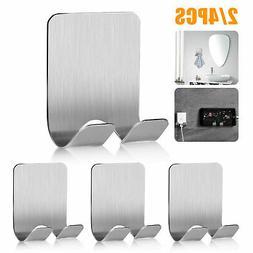 Bathroom Hook Towel Hanger Self Adhesive Stainless Steel Kit