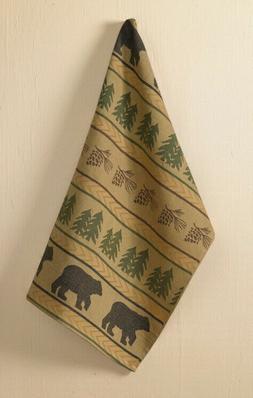 Park Designs Bear Tracks Jacquard Woven Dish Towel,Multicolo