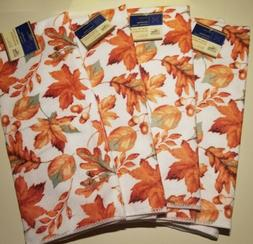 Beautiful Fall Kitchen Towels, 4 towels. Orange, Yellow and